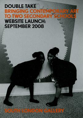 Double Take website launch flyer, front