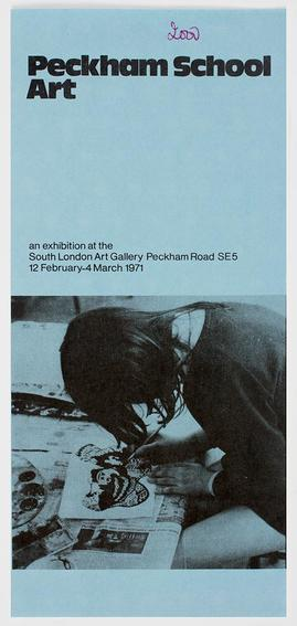 Peckham School Art Pamphlet, front cover