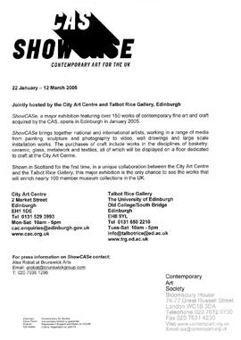 ShowCASe Preview Press Release (Edinburgh) 1