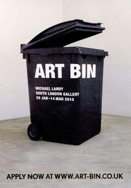 Art Bin: submitting works card, front