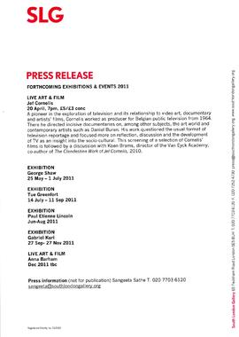 Press release about events (May to Dec 2011)